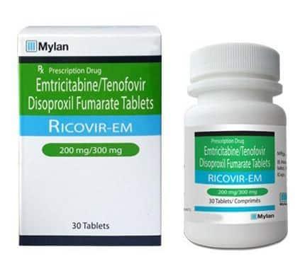 PrEP Ricovir-EM 30s Bottle and Packaging